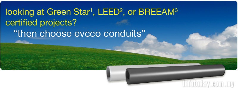 Looking at Green Star, LEEDorBREEAM certified projects, choose evcco conduits