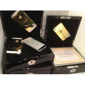 24ct. Gold iPhone 5 64gb unlocked Crystal black