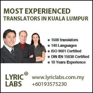 Most of the companies in Malaysia Use Lyric Labs for Translation Services.