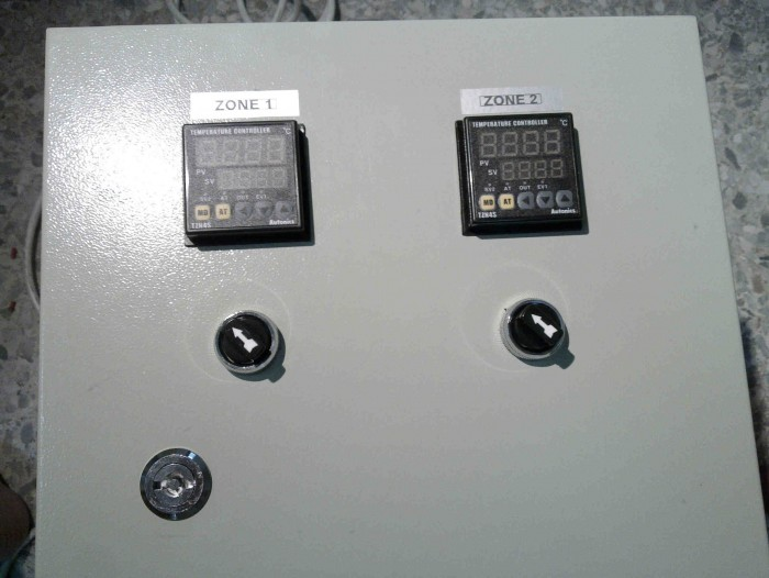 2zone heater co<em></em>ntrol panel for plastic recycle factory2