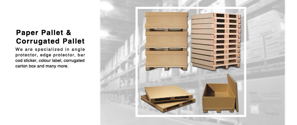 Paper Pallet & Corrugated Pallet | We are Specialized in Angle Protector, Edge Protector, Bar Cod Sticker, Colour Label and Many More | Malaysia | Klang | Selangor | Klang Valley | Shah Alam | Puchong | Setia Alam | Meru | Kapar | Ampang | Bangsar