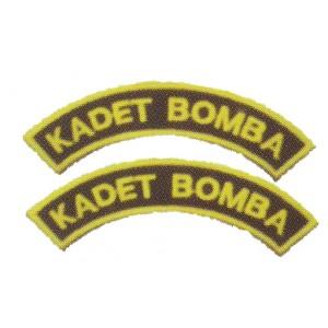 Kadet Bomba Embroidery Shoulder Badge-Pair