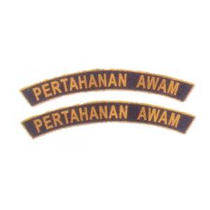 Kadet Pertahanan Awam Embroidery Shoulder Badge-Pair
