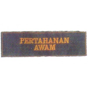 Kadet Pertahanan Awam Embroidery Shoulder Badge