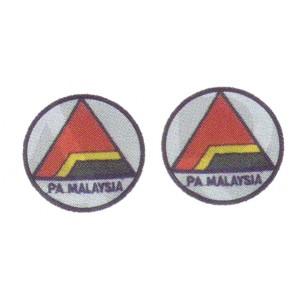 Kadet Pertahanan Awam Embroidery Round Badge-Pair