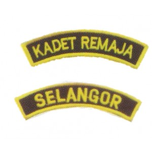 Kadet Remaja Sekolah Embroidery Shoulder Badge
