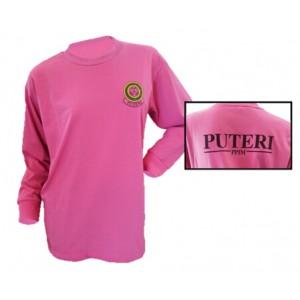 Puteri Islam Rpund Neck T-Shirt Dark Pink (CL)