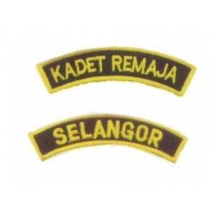 Tunas Kadet Remaja Sekolah Embroidery Shoulder Badge
