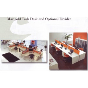 Marigold Task Desk And Optional Divider Office Workstation